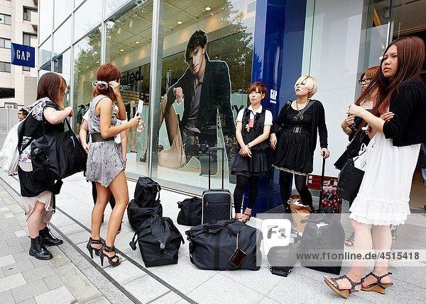 Shopping  Harajuku  Tokyo  Japan.