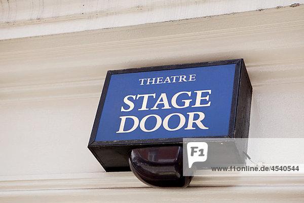 Bühneneingang des West End Theaters  London