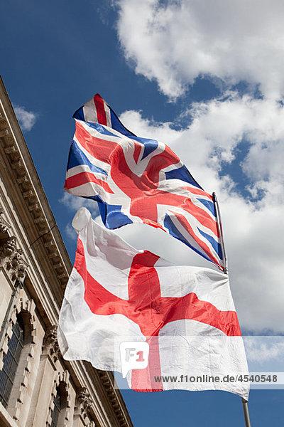 Britische und englische Flaggen  London