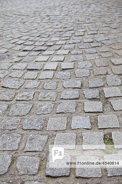 Kopfsteinpflasterstraße in London