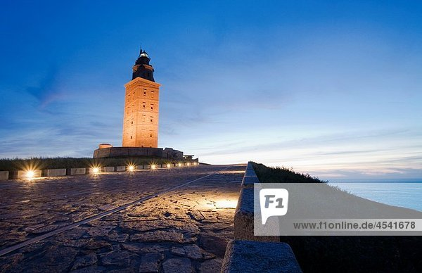 Tower of Hercules  the only existing and working Roman era lighthouse. La Coruna  A Coruña  Galicia  Spain.