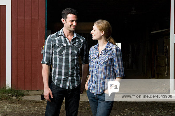 Couple at stable