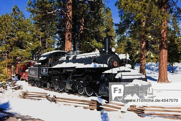 steam locomotive  Flagstaff  Arizona  USA