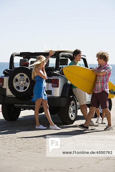 Freundschaft Verkehr Surfboard