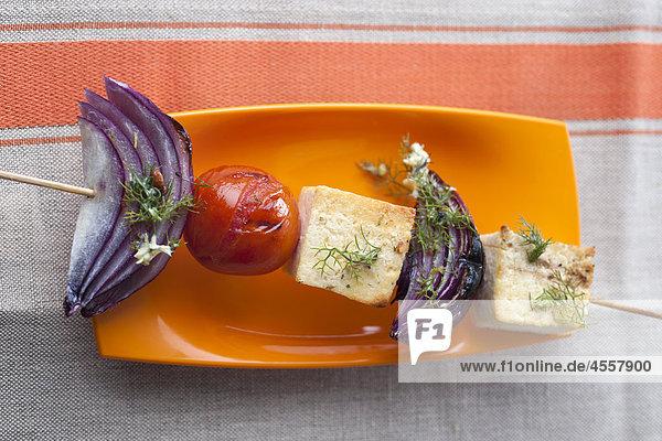 Gegrillte Tofu mit Pastis Butter  / Mit Englischsprachigem Rezept