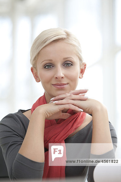 portrait of young blonde businesswoman