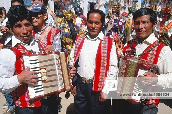 Peru  Paucartambo  musicians  Fiesta del Carmen festival