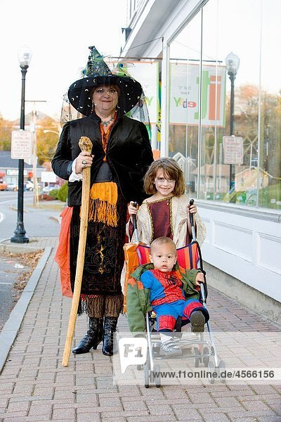 Halloween in Machias  Maine  USA