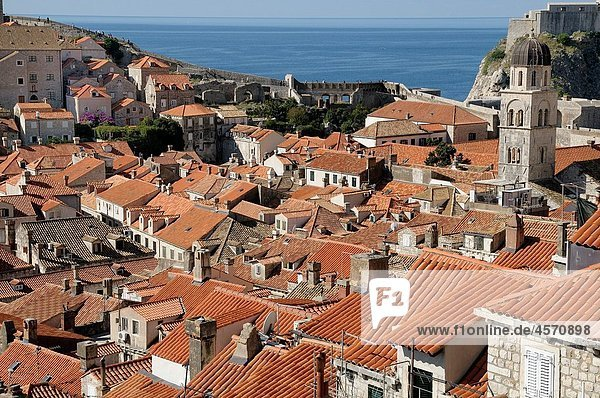 Croatia  Dubrovnik Old town from the ramparts