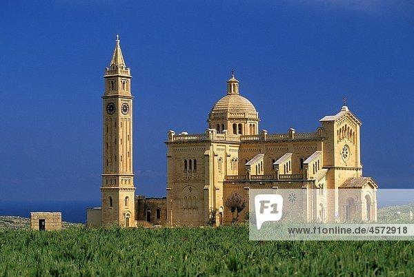 basilica of Ta´Pinu  Gozo  Malta  Mediterranean sea  Europe