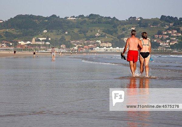 Hendaye plage  Aquitaine  France.