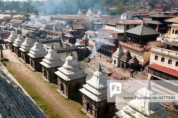 view of the Hindu temple of Pashupatinath in Kathmandu  Nepal