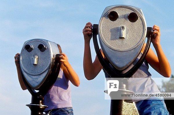 Viewscope binoculars