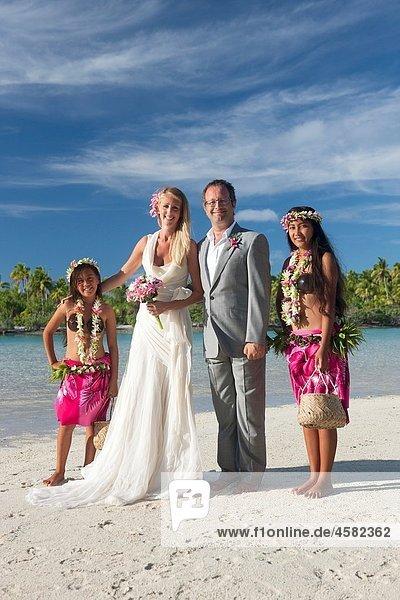 Wedding. Aitutaki in The Cook Islands