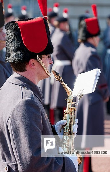 Band at Changing of the Guard Ceremony  London