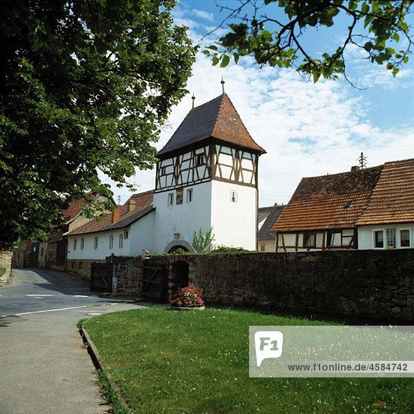 Germany  Lauda-Koenigshofen  Tauber  Baden-Wuerttemberg  Upper Gate  town gate