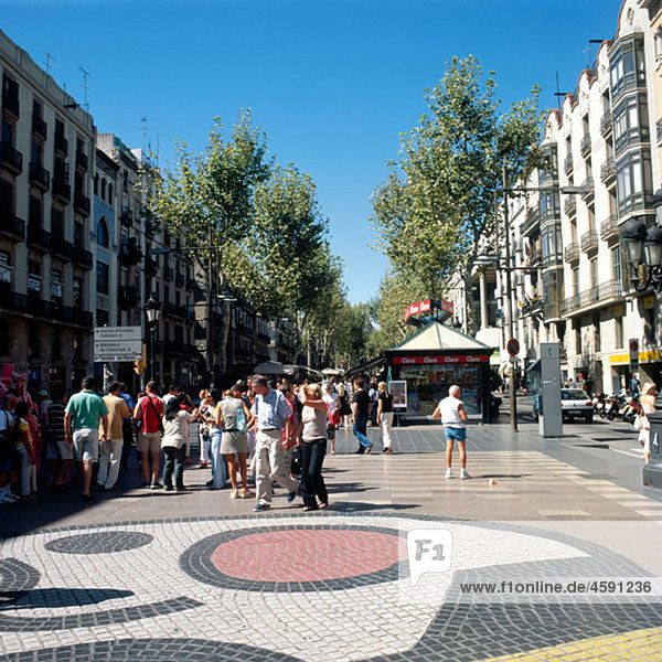 The Ramblas  Barcelona. Catalonia  Spain