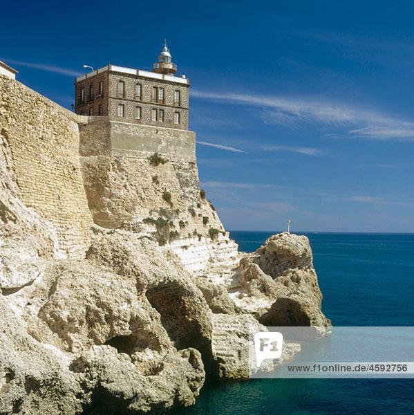 Lighthouse and TorreÛn del Bonete  Melilla  Spain