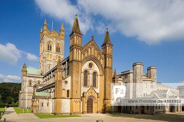 Buckfast  Abbey Church. Medieval Cistercian monastery 12th century  reconstructed 1882-1932 by Benedictine Order. Devon  UK.