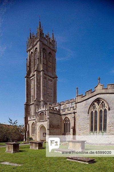 Glastonbury  St John the Baptist church  15th century  Somerset  UK.