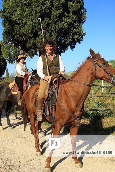 ¥Butteri¥ Italian cowboys  Maremma region  Tuscany  Italy