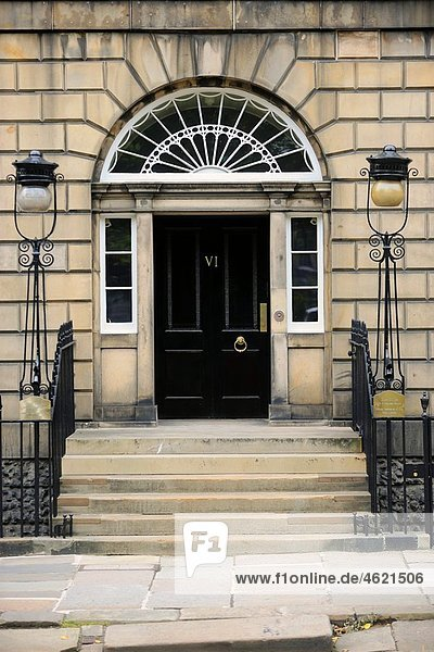 Charlotte Square. Edinburgh. Scotland. Great Britain.
