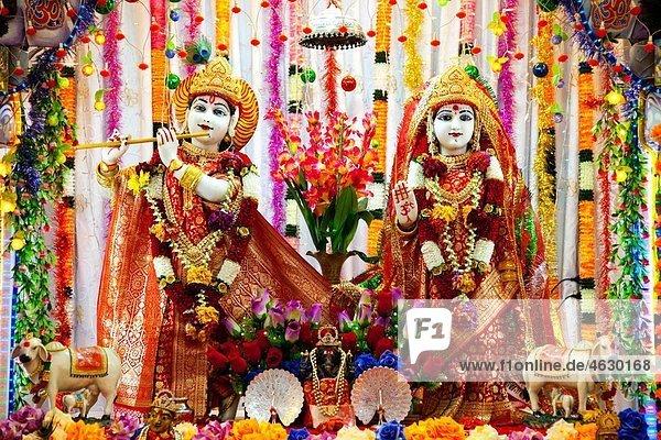 Malaysia  Krishna and Radha in temple