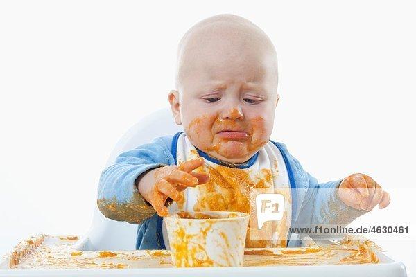 11 baby junge person lebensmittel weinen lizenzfreies bild bildagentur f1online 4630461. Black Bedroom Furniture Sets. Home Design Ideas