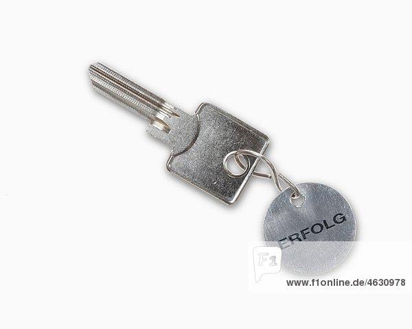 Schlüssel und Schlüsselanhänger mit Texterfolg