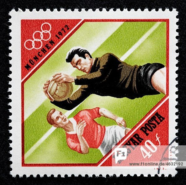 XX Olympic games  Munich 1972  postage stamp  Hungary  1972