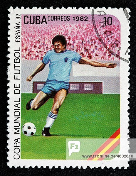1982 FIFA World Cup  Spain  postage stamp  Cuba  1982