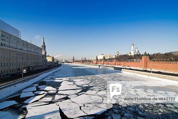 Moscow Kremlin at winter season