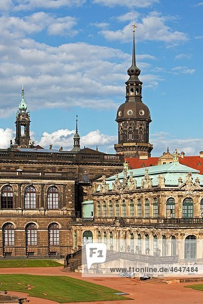 Zwinger Palace courtyard Dresden Saxony Germany
