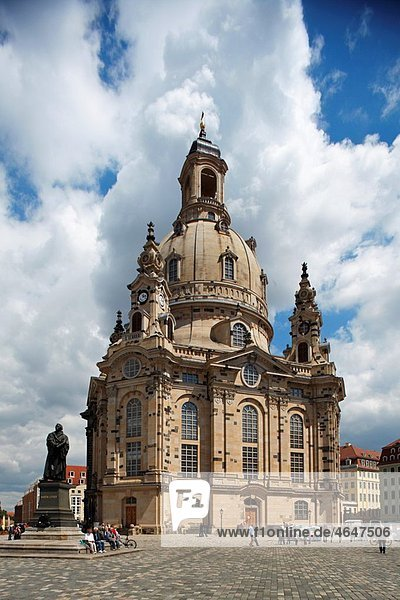 Neumarkt Frauenkirche Church of Our Lady Dresden Saxony Germany