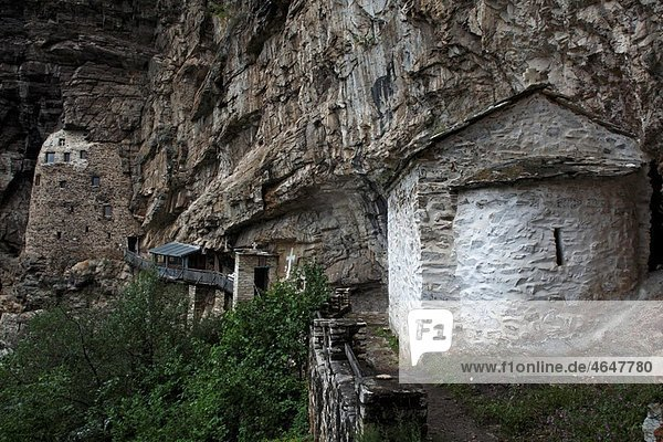 Serbia Studenica Monastery founded by Grand Prince Stefan Nemanja late 12th century Orthodox skete of St Sava chapel christian religious exterior outside facade colour
