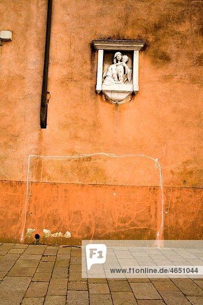 Soccer goals in Burano  Italy
