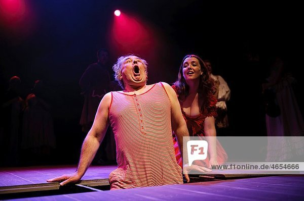 The Wardens amateur theatre company production of Moll Flanders  The Musical  Aberystwyth Arts Centre  Wales UK