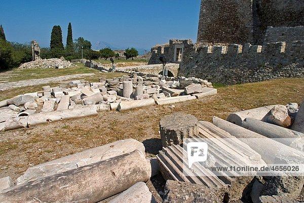 Europe  Greece  Peloponnese  Patra  the Castle