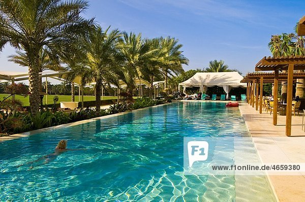 Swimming pool  Desert Palm Hotel  Dubai  United Arab Emirates