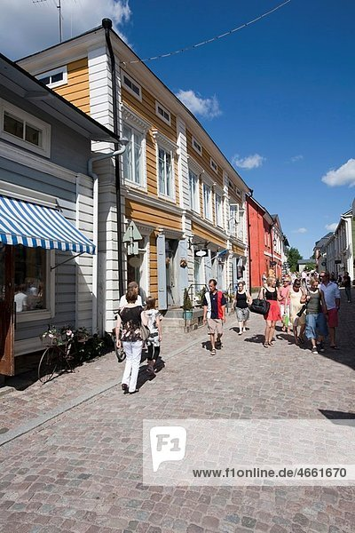 Street view in old town Porvoo Finland