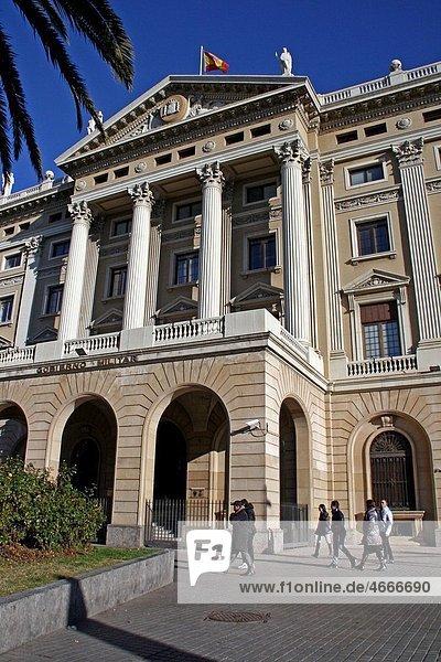 Military goverment building  1925  architect: Adolf Florensa i Ferrer  Barcelona  Catalonia  Spain.