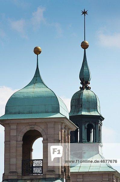Nuremberg town hall spires  Germany Nuremberg town hall spires, Germany