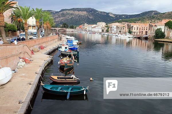 Bosa village Sardinia Italy