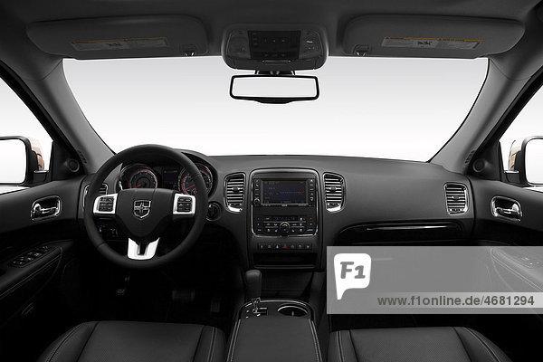 2011 Dodge Durango Zitadelle in weiß - Dashboard  Mittelkonsole  Getriebe-Shifter-Ansicht