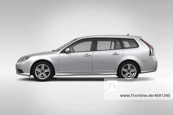 Profil Profile Sport fahren Silber Saab Seitenansicht 2