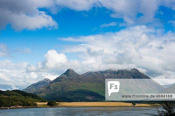 Landscape of the Highland mountains at Glencoe  Scotland