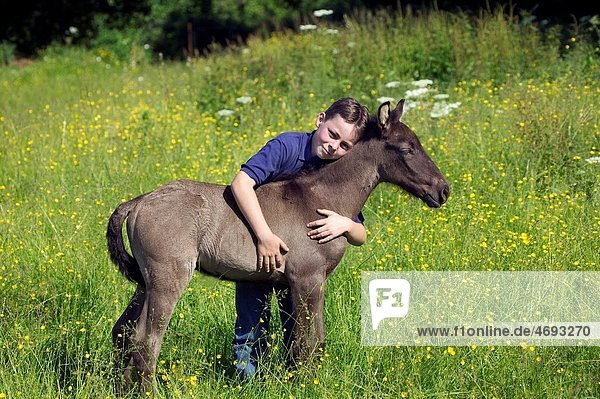 BOY WITH FOAL
