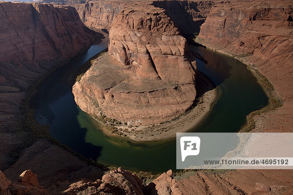 Horseshoe Bend  Colorado Fluß  Arizona  USA  Amerika