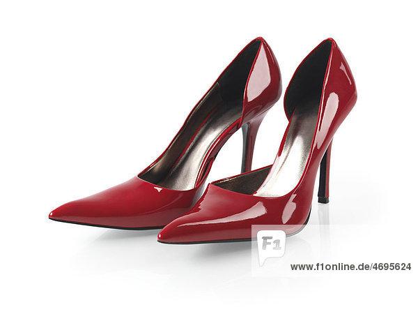 Ein Paar sexy High Heels  Stöckelschuhe in rot
