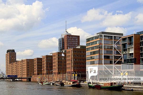 View to Kehrwiederspitze  HafenCity  Hamburg  Germany  Europe